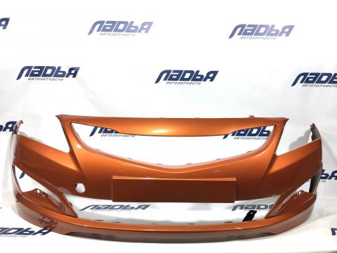 Бампер Hyundai Solaris(14-) передний Оранжевый R9A купить в Санкт-Петербурге цена