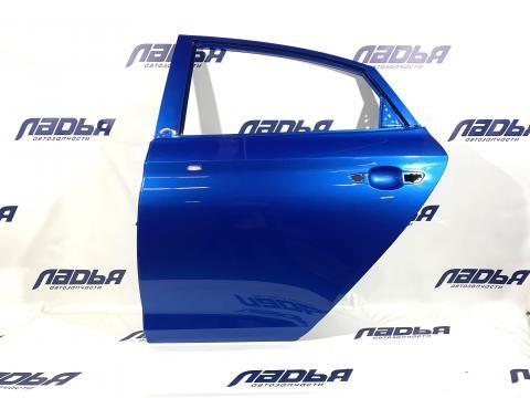 Дверь Hyundai Solaris(17-) задняя левая Синий N4B купить в Санкт-Петербурге цена