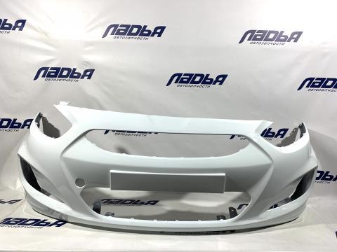 Бампер Hyundai Solaris(10-) передний Белый (PGU) купить в Санкт-Петербурге цена