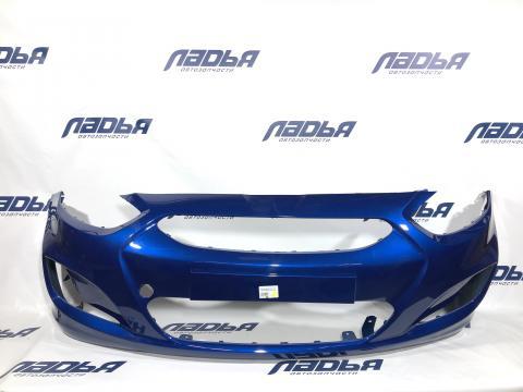 Бампер Hyundai Solaris(10-) передний Синий (WGM) купить в Санкт-Петербурге цена