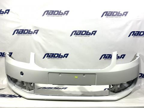 Бампер Skoda Octavia(13-) A7 передний Белый LB9A купить в Санкт-Петербурге цена